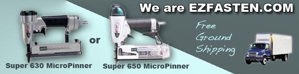 free ground shipping on Super 630 and Super 650 ez-fasten micropinners